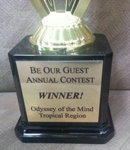 Be Our Guest Annual Contest Trophy